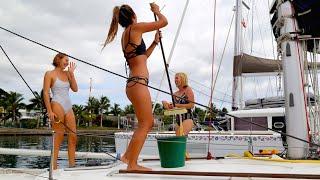 The Girls Came to Visit the Boat! (Sailing La Vagabonde) Ep. 56