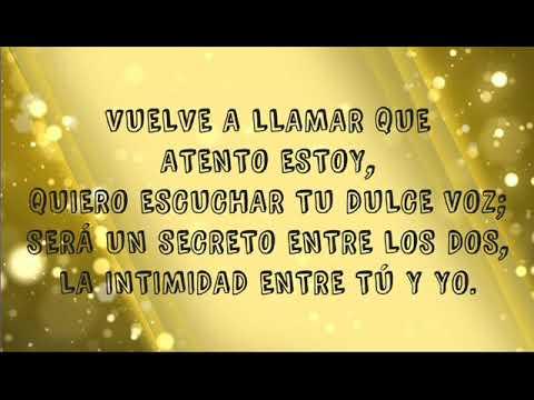 Vuelve a llamar (letra) - Jesús Adrián Romero.