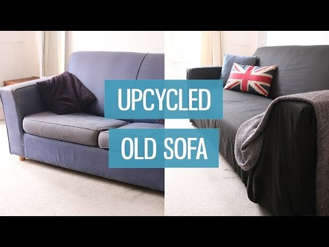 A slipcover to refurbish an old couch how to make do for Sofa upcycling