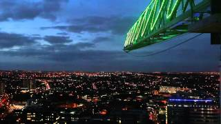 103 Colmore Row Tower Crane Christmas Lights - city view