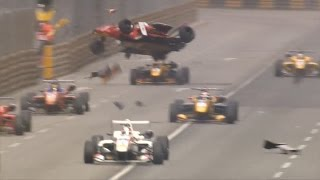 Macau Grand Prix 2016. Start crash in qualification race