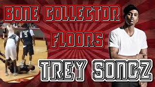 Bone Collector makes Trey Songz fall! Exclusive Chris Brown Interview Highlights at Power 106 Game!!