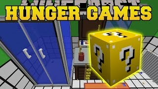 Minecraft: THE DROPPER BATHROOM HUNGER GAMES - Lucky Block Mod - Modded Mini-Game
