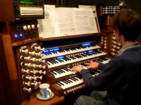 Pulling out all the stops on full organ - camera can't cope