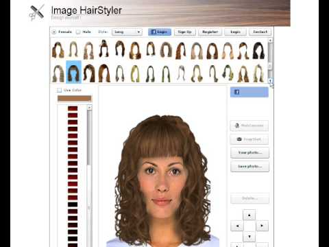 virtual hairstyle generator and virtual haircut simulator for women
