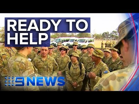 NSW Bushfires: Army convoy heading for South Coast | Nine News Australia