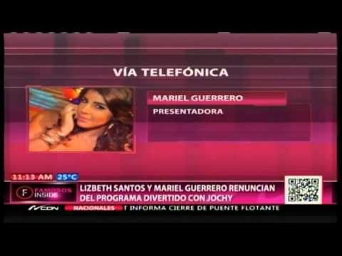 Mariel Guerrero explica los motivos de su renuncia de Divertido con Jochy