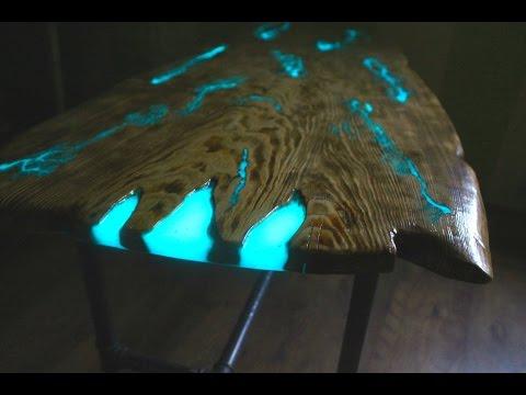 СТОЛ МОЛНИЯ. ( Часть 1 - Столешница) Как сделать светящийся стол из эпоксидной смолы.