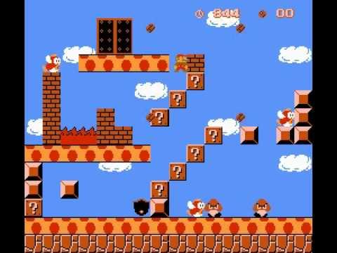 Weird Pirated Games: Mario-Kun (Moai-Kun hack) NES