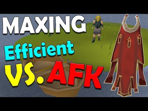 AFK VS. Efficient Maxing In Old School Runescape [Old School Comparison]