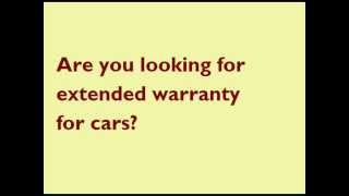 Extended warranty for cars