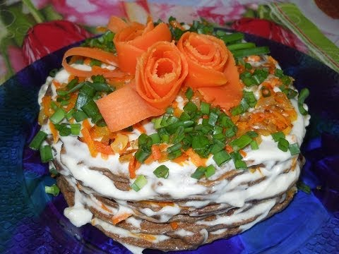 Печеночный торт приготовление рецепт фото