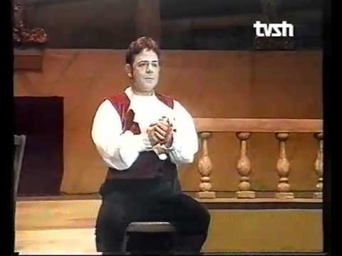Agim Hushi. One of the best students of Franco Corelli, Australian-Albanian great tenor singing Cavaradosi.Conductor Franco Vaseli. May 2006.