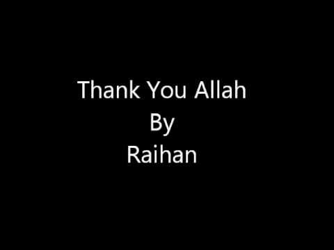 Thank You Allah Raihan Lyrics video