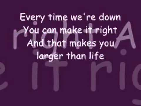 Backstreet Boys Larger Than Life Lyrics. video