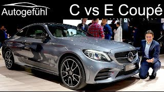 Mercedes C-Class Coupe vs E-Class Coupé comparison REVIEW Facelift 2019 C300 E53 AMG C-Klasse NYIAS