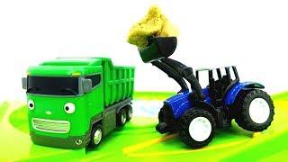 Giochi per bambini con le macchine-Le auto di servizio puliscono la strada