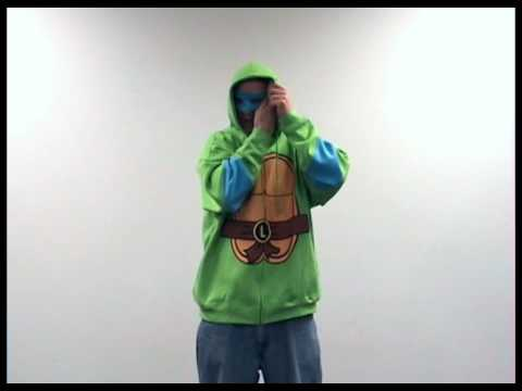 Teenage Mutant Ninja Turtles Zipper Costume Hooded Sweatshirt with removable mask - How to