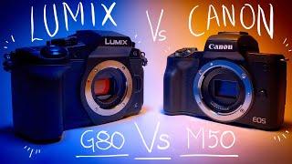 Canon M50 Vs Panasonic Lumix G80/85 - Best Budget YouTube Camera