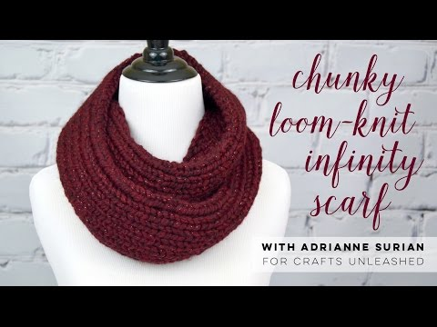 Loom Knit Infinity Scarf Pattern Image Collections Knitting