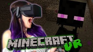 Minecraft in VR is So Scary!!