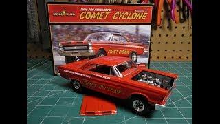 Moebius Dyno Don Nicholson 1965 A/FX Mercury Comet Cyclone 1/25 Scale Model Kit Build Review 1238