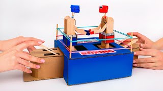 How To Make Funny Boxing Game From Cardboard