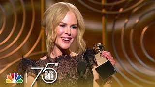 Download Lagu Nicole Kidman Wins Best Actress in a Limited Series at the 2018 Golden Globes Gratis STAFABAND