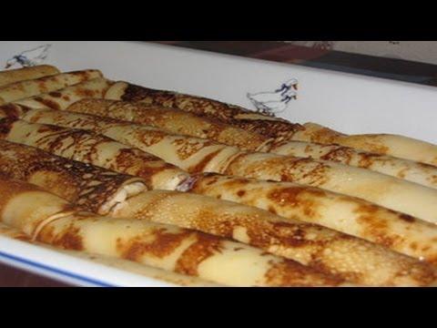 Как готовить блинчики с творогом ( налистники ). | How to cook pancakes with cottage cheese .