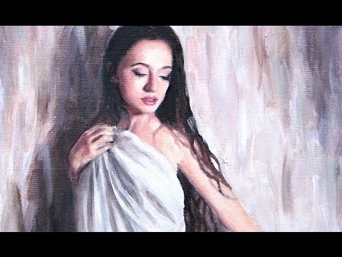 Speed Painting : Girl Under Sheet