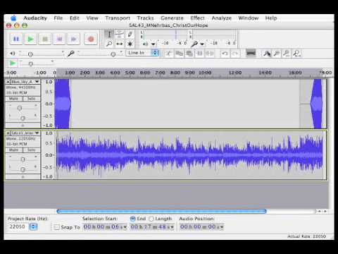Audacity Quick Reference Guide - Radford University