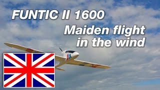 EPO Funtic II 1600 - Maiden flight in the wind