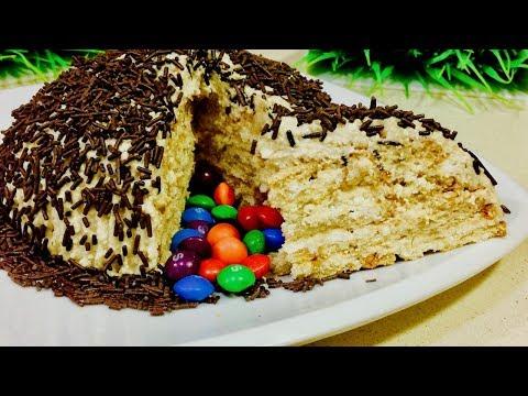 Самый вкусный торт с халвой без выпечки. Рецепты тортов.