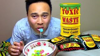 100 TOXIC WASTE CANDY?! NEVER AGAIN!