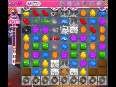Candy Crush Saga Level 267 - 1 Star - no boosters