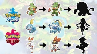 Grookey, Scorbunny, Sobble Evolution ! Pokemon Sword & Shield Fanart