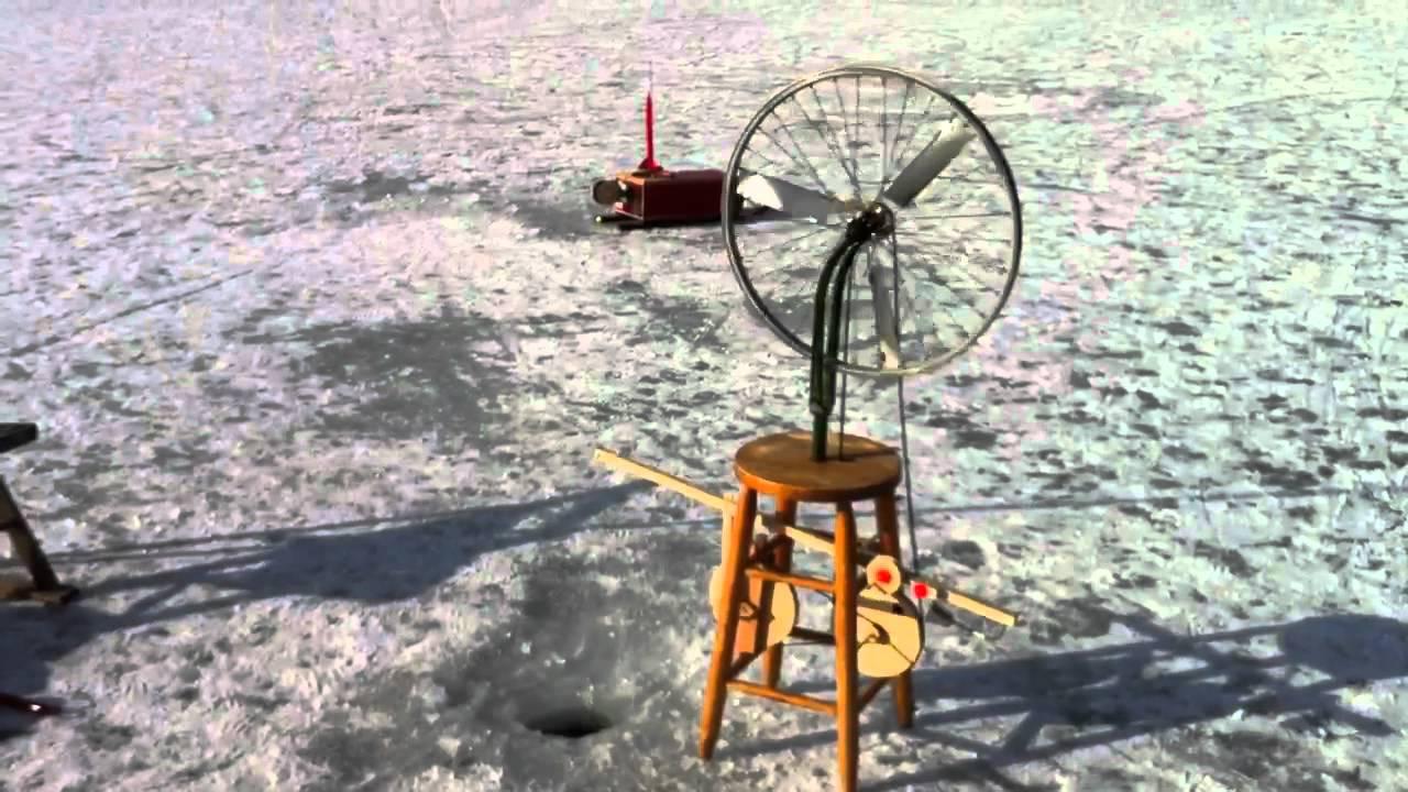 Marcel Duchamp Inspired Ice Fishing Tip Up Auto Jigger