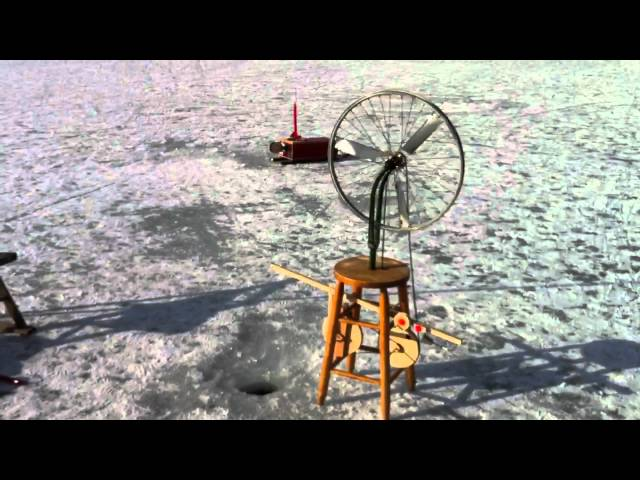 Marcel Duchamp Inspired Ice Fishing Tip Up / Auto Jigger