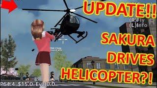 [School Girls Simulator] SAKURA DRIVES HELICOPTER?!?! UPDATE 14.10.2018
