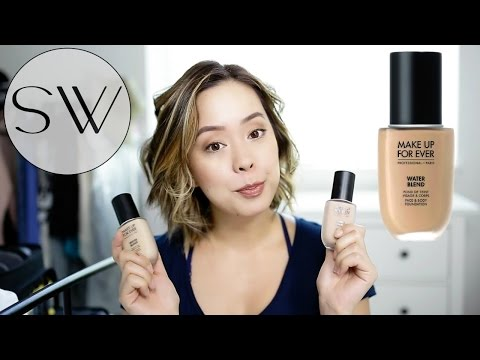 MAKE UP FOR EVER WATER BLEND FOUNDATION REVIEW
