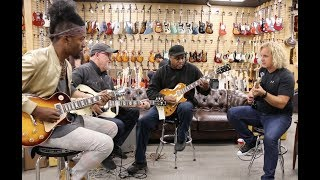 AMAZING JAM! Henny Hendrexz, Tim Pierce, Conrad Lee & Jason Scheff at Norman's Rare Guitars