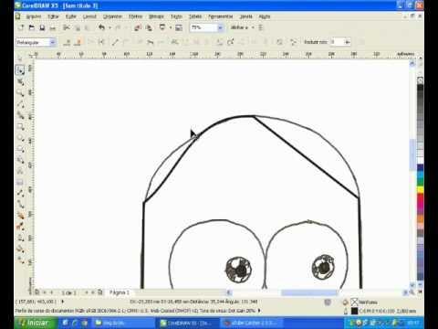 Como vetorizar desenhos no corelDRAW X5 - (básico)
