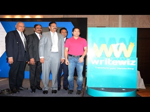 Sachin Tendulkar Launch of Writewiz - BW