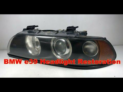 Bmw m5 540i 525i 530i xenon headlight restoration e39