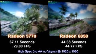 1080p Crysis Comparison - Radeon 5770 vs 6850