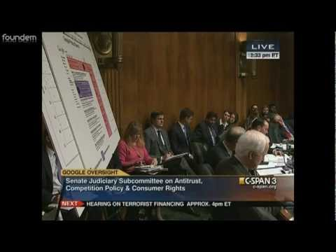 Google Senate Antitrust Hearing: Foundem's Analysis