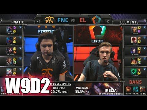 Fnatic vs Elements | S5 EU LCS Spring 2015 Week 9 Day 2 | FNC vs EL W9D2G2 VOD 60FPS