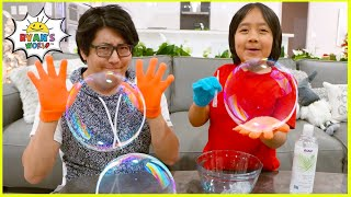 DIY Giant Bubbles with 1 hr TOP easy DIY kids science experiments to do at home!!