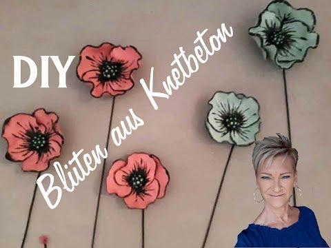 DIY Inspiration Blüten Anleitung von Uschi mit Knetbeton