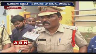 Vijayawada Polices Donates For Flood Victims | Face To Face With ABN